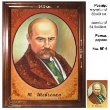 "Портрет Тараса Григорьевича Шевченко ""ВП-6"" 30x40 см."