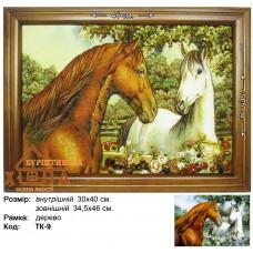 """Лошади """"ТК-9"""" 30х40 см."""