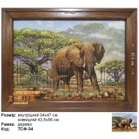"""Животные Сафари """"Слон """"(ТСФ-34) 34х47 см."""