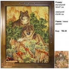 """Волки """"ТВ-35"""" 34х47 см."""