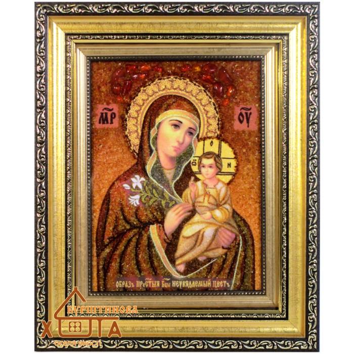 """Ікона Божа мати (ІБ-16) """"Нев'янучий Цвіт"""" 15х20 см. Ціну див. у вкладці Прайс!"""
