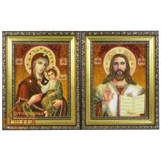 """Иконы пары """"Иверская"""" (ІП-43, ІП-44) 15х20 см. - от 820 грн."""