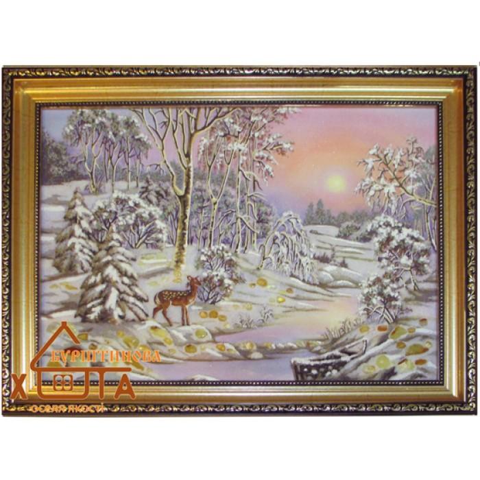 Пейзаж зимовий (ПЗ-36) 30х40 см.