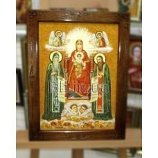 """Ікона Божа матір """"Пресвятої Богородиці"""" (ІБ-121) 34х47 см."""