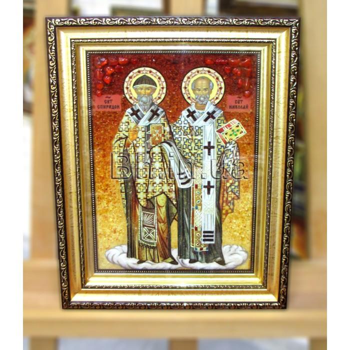 Ікона іменна  «Святий Спиридон і Микола» (ІЧ-242) 20х30 см.