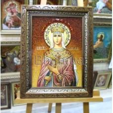"""Ікона іменна """"Свята цариця Олександра"""" (ІЖ-159) 30х40 см."""