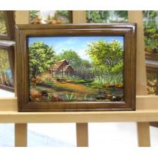 Пейзаж з будинками (ПБ-13) 20х30 см.