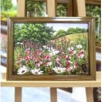 Пейзаж з квітами (ПК-13) 15х20 см.