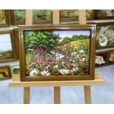 Пейзаж з квітами (ПК-13) 30х40 см.