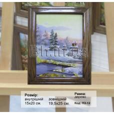 Пейзаж зимовий (ПЗ-12) 15х20см.