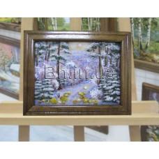 Пейзаж зимовий (ПЗ-19) 15х20 см.