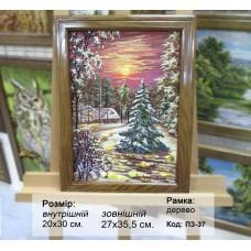 Пейзаж зимовий (ПЗ-37) 20х30 см.