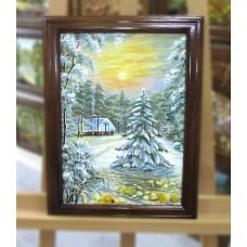 Пейзаж зимовий (ПЗ-37) 30х40 см.