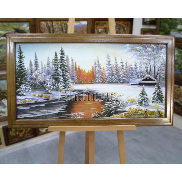 Пейзаж зимовий (ПЗ-38) 50х100 см.